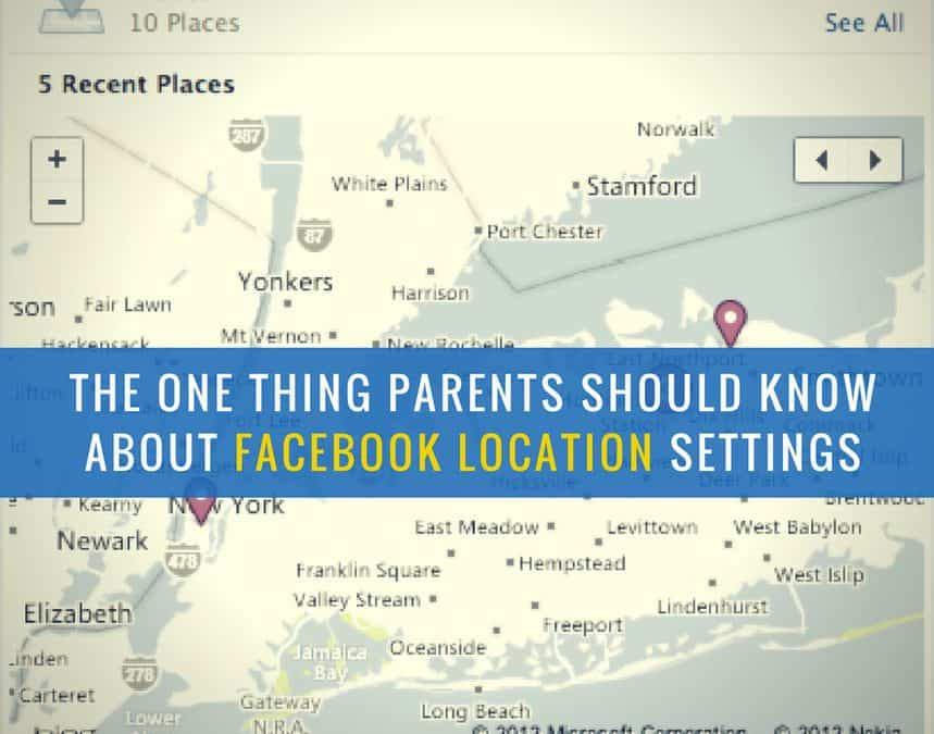 Facebook location setting