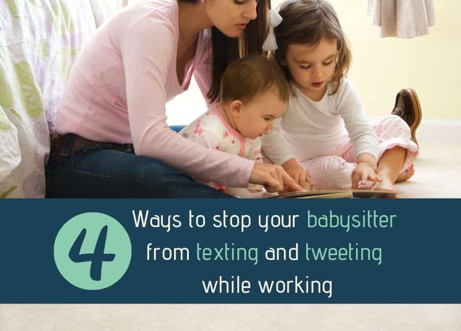 working as a babysitter