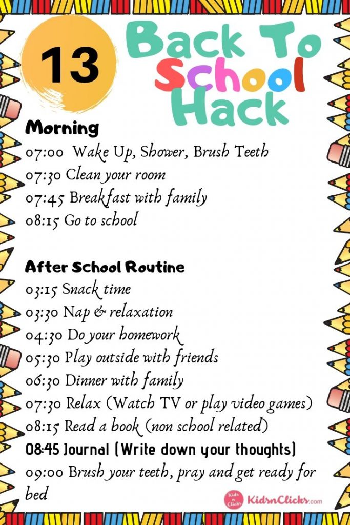 Anxiety And Homework Helping Your Child >> 4 Steps In Managing Back To School Anxiety Kids N Clicks
