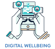 digital wellbeing with text