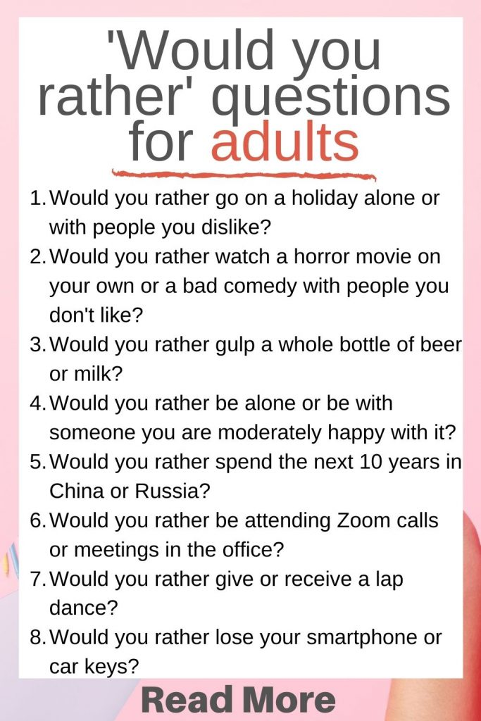 would you rather questions for adults