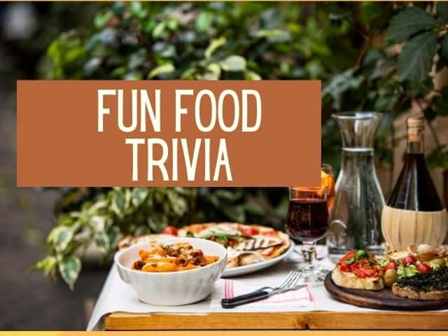food trivia for family