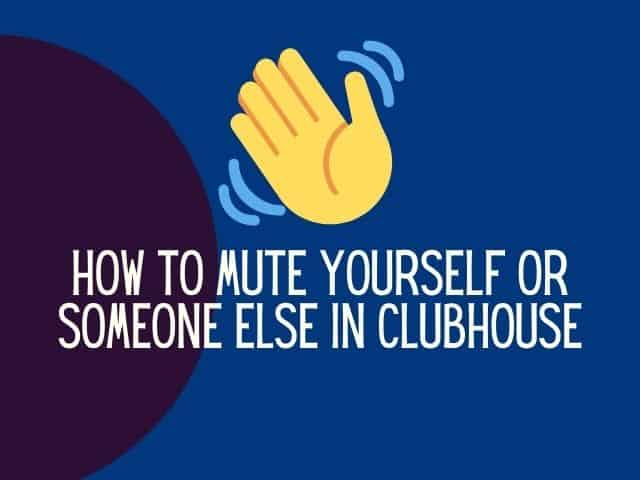 Clubhouse mute