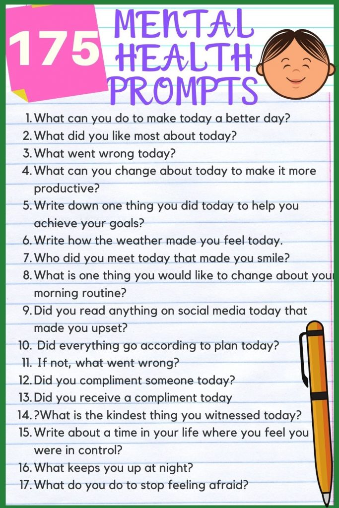 journal prompts for mental health