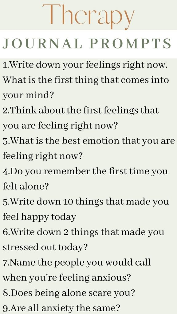 therapy journal prompts