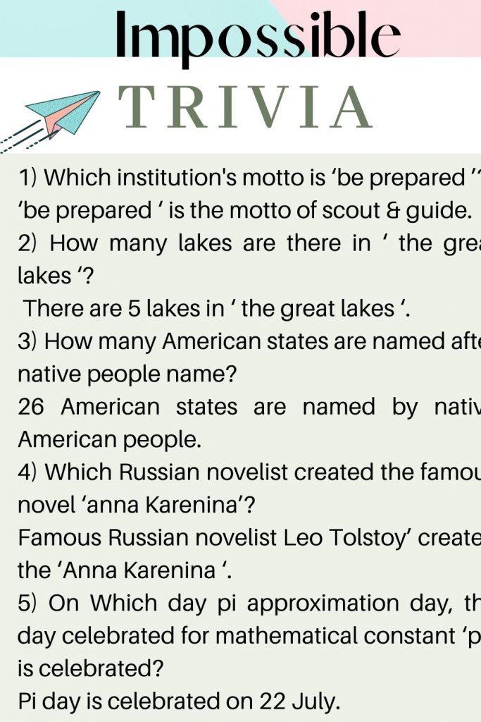 impossible trivia questions