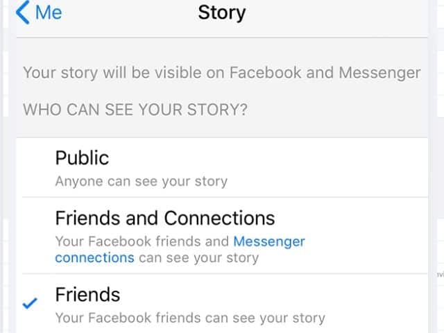 How to turn off comments on Facebook story