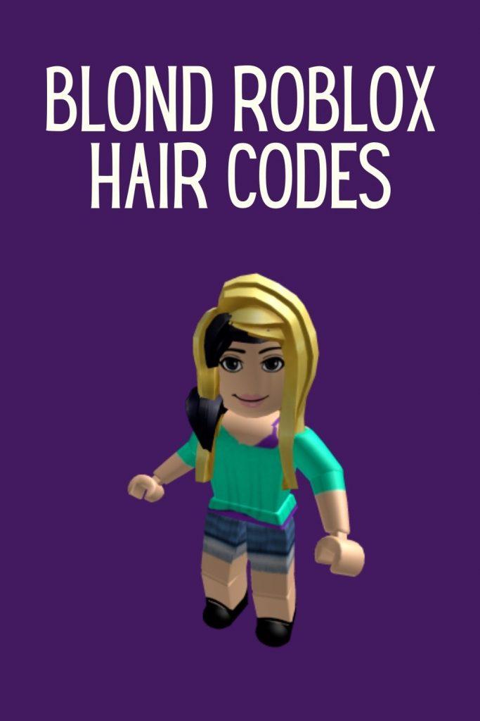Blonde Roblox hair code