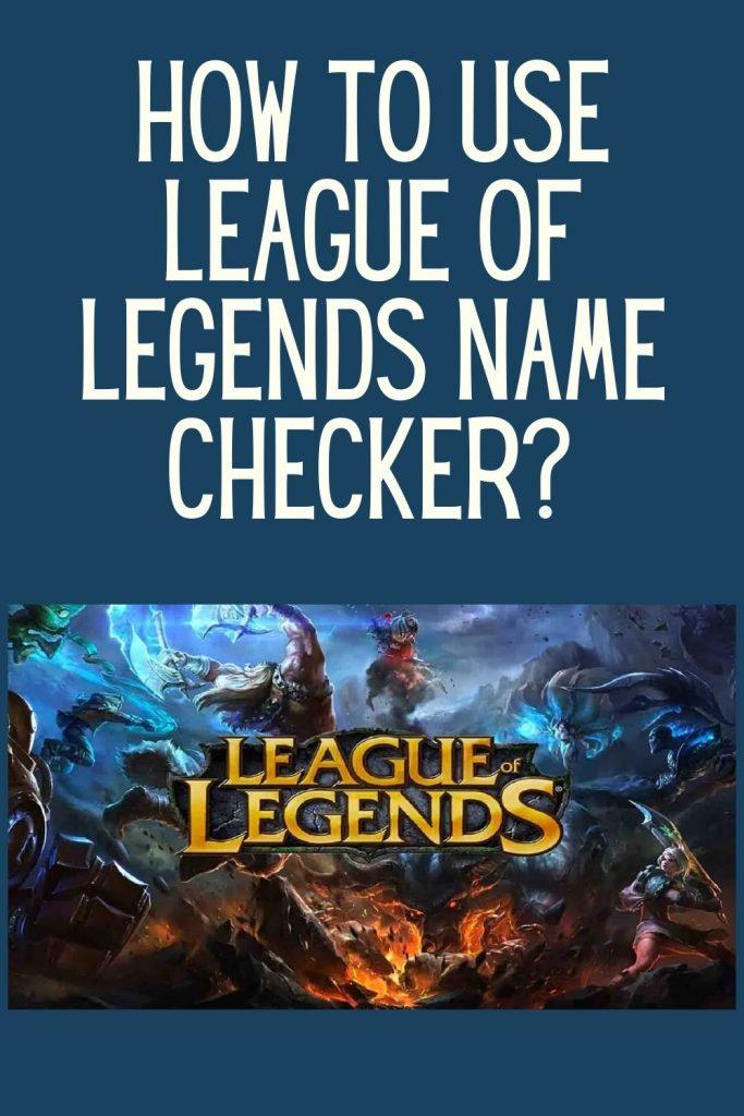 League of legends name