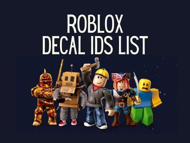 Roblox decal IDs
