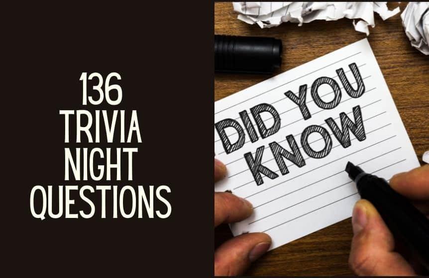 Trivia night questions