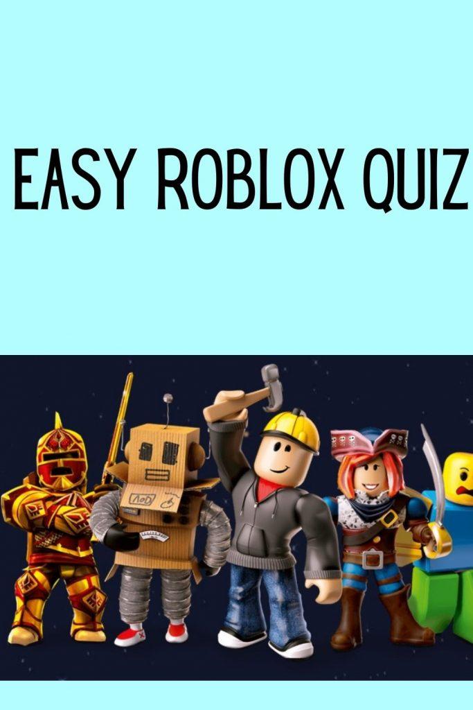 Easy Roblox Quiz