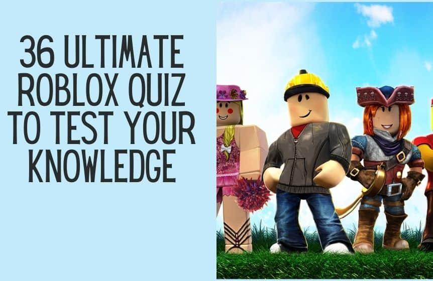 Roblox quiz