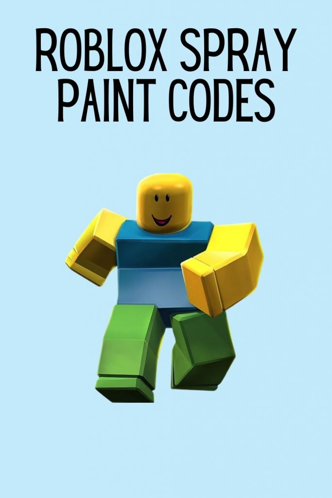 Roblox spray paint codes