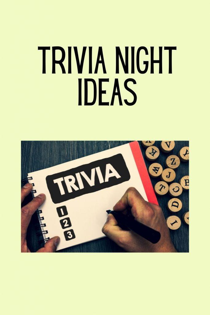 Trivia Night Ideas